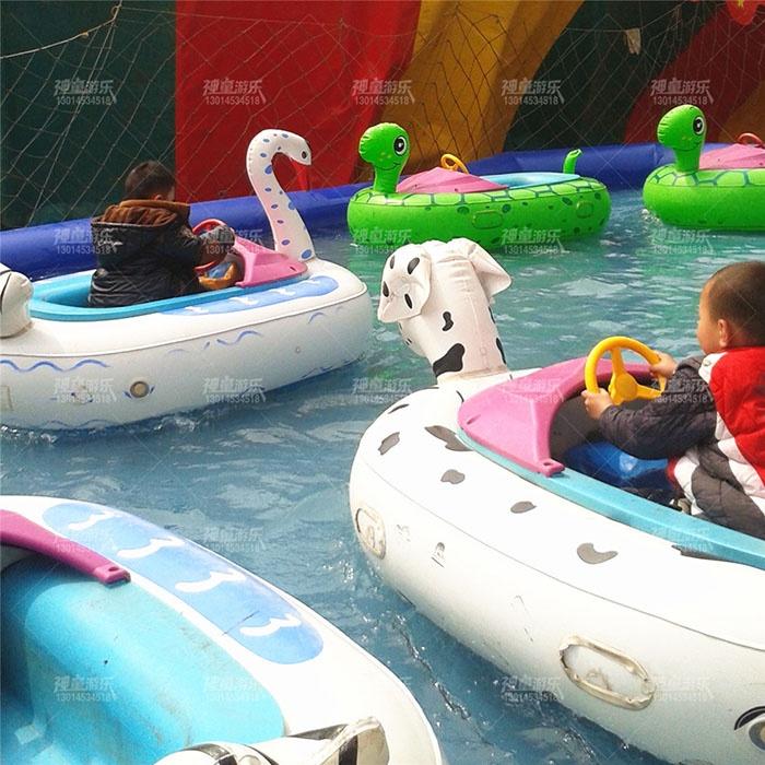 神童卡通碰碰船水上充气碰碰船