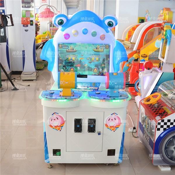 儿童乐园设备双人钓鱼机